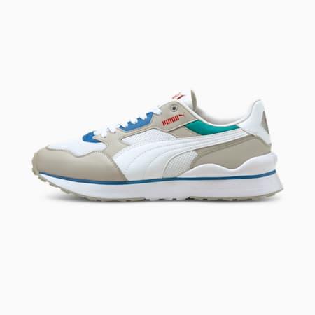 Zapatos deportivos R78 FUTR para hombre, Puma White-Gray Violet-High Risk Red, pequeño