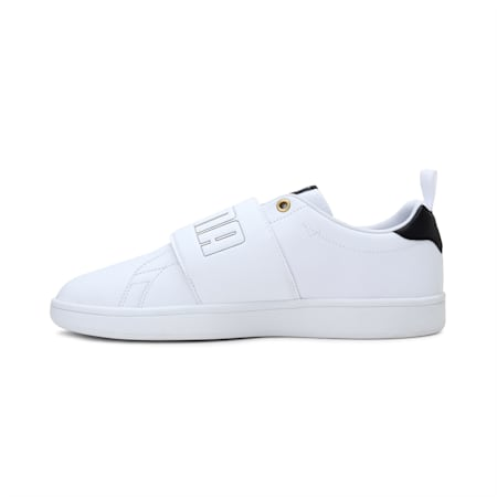 Smash Slip-On Bold Shoes, Puma White-Black-Gold, small-IND