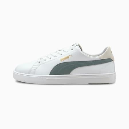 PUMA Serve Pro Lite Unisex Shoes, Puma White-Balsam Green-Puma Team Gold, small-IND