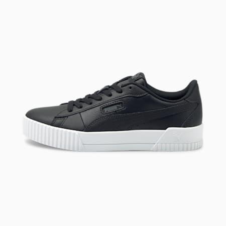 Carina Crew Damen Sneaker, Puma Black-Puma Black, small