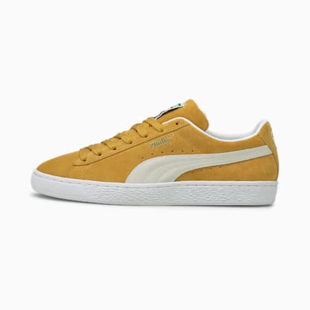 Suede Classic XXI Sneaker, Honey Mustard-Puma White, small