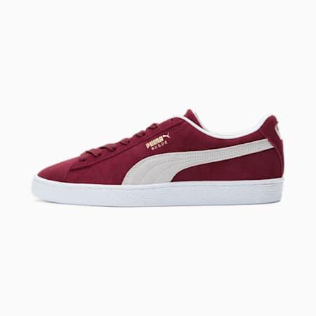 Zapatos deportivos de gamuzaClassic XXI para hombres, Cabernet-Puma White, pequeño