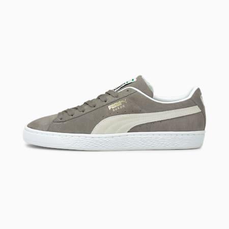 Suede Classic XXI Sneaker, Steel Gray-Puma White, small