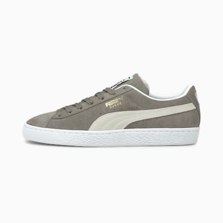 Suede Classic XXI Trainers, Steel Gray-Puma White, small
