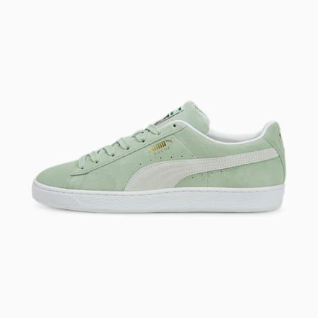 Zapatos deportivos de gamuzaClassic XXI para hombres, Frosty Green-Puma White, pequeño