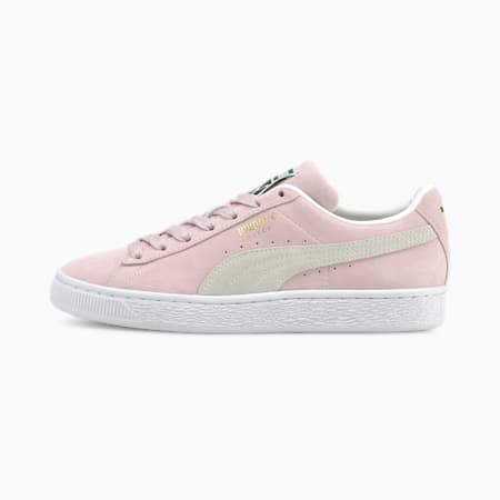 Suede Classic XXI Sneaker, Lilac Snow-Puma White, small
