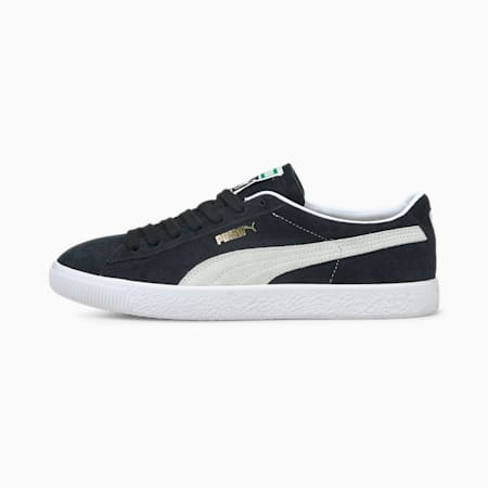 Suede VTG Trainers, Puma Black-Puma White, small