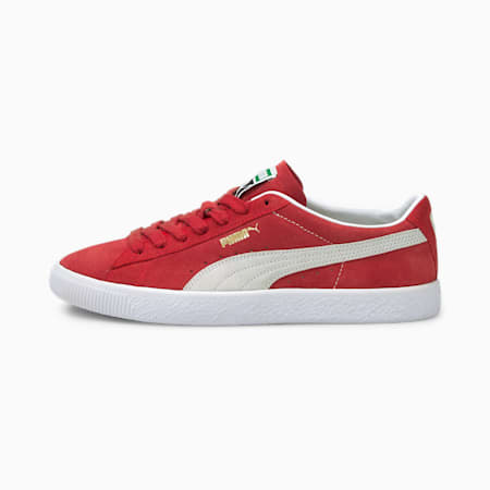 Suede VTG Trainers, High Risk Red-Puma White, small