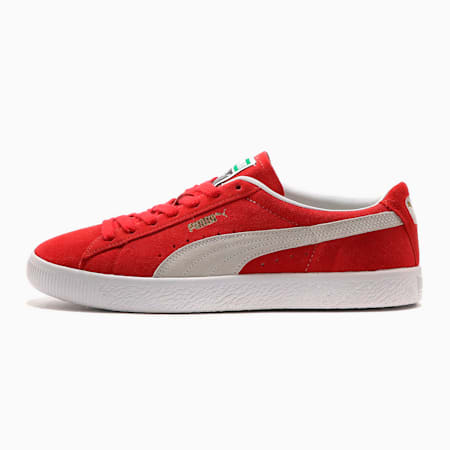 スウェード ビンテージ スニーカー ユニセックス, High Risk Red-Puma White, small-JPN