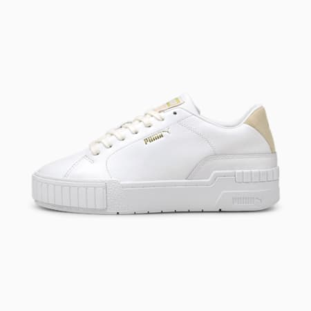 Cali Sport Clean Women's Trainers, Puma White-Shifting Sand, small-GBR