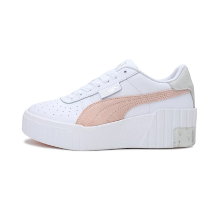 Cali Wedge In Bloom Women's Sneakers, Puma White-Cloud Pink, small-IND