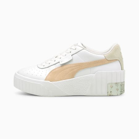 Zapatos deportivos Cali Wedge In Bloom para mujer, Puma White-Cloud Pink, pequeño