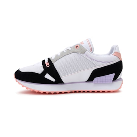 Mile Rider Power Play Women's Shoes, Puma Wht-Puma Blk-Apricot Bl, small-IND