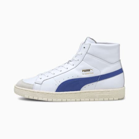 Ralph Sampson 70 Mid OG Trainers, Puma White-Elektro Blue, small