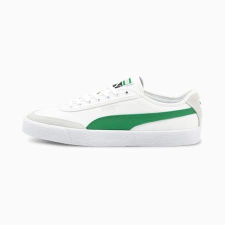 Oslo Vulcanised Canvas Sneaker, Puma White-Amazon Green, small