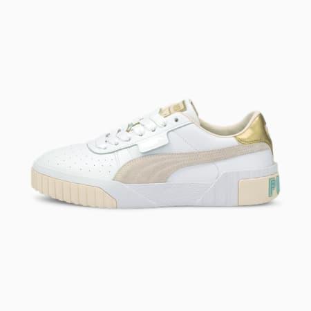 Cali Soft Glow Women's Sneakers, Puma White-Eggnog, small-IND
