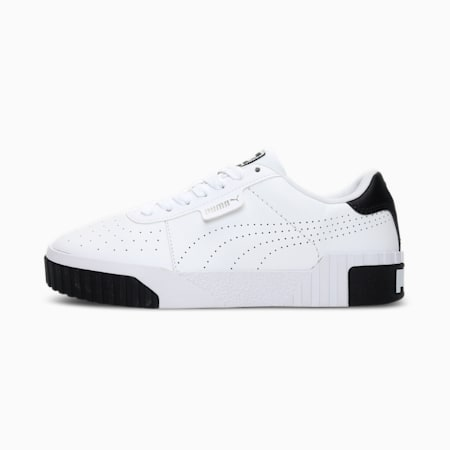 Cali Perforated Women's Sneakers, Puma White-Puma Black, small-IND