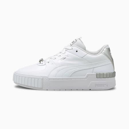Cali Sport Metallic Women's Sneakers, Puma White-Puma White, small-GBR