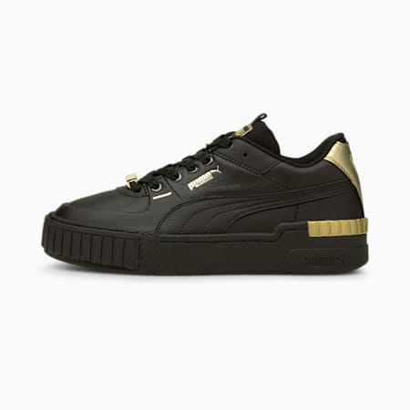 Cali Sport Metallic Women's Sneakers, Puma Black-Puma Black, small