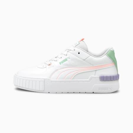 Cali Sport Pastel Mix sneakers dames, Puma White-Elektro Peach, small