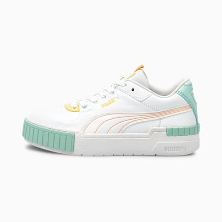 Scarpe da ginnastica Cali Sport Pastel Mix donna, Puma White-Peach Cobbler, small