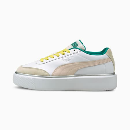 Oslo Maja OQ Women's Trainers, Puma White-Cloud Pink-Eggnog, small-GBR