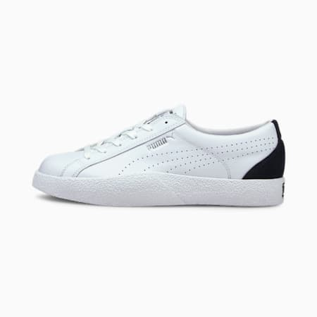 Love Perforated Women's Shoes, Puma White-Puma Black, small-IND