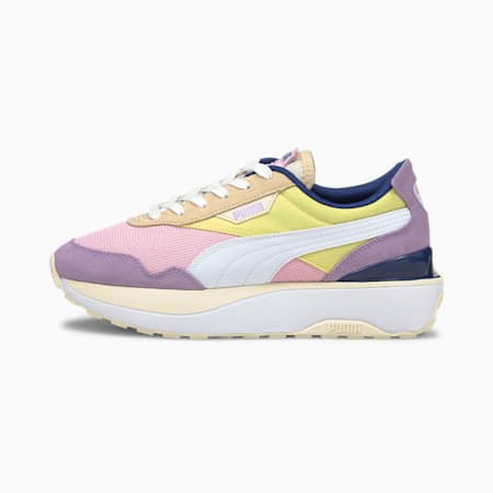 Cruise Rider Women's Sneakers, Pink Lady-Yellow Pear, small-GBR
