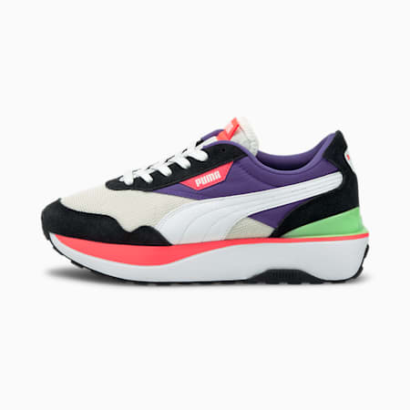 Cruise Rider Women's Shoes, P Black-P White-Ignite Pink, small-IND