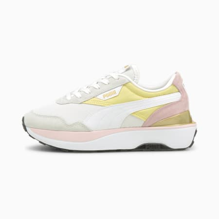 Cruise Rider Women's Sneakers, Yellow Pear-White-Pink Lady, small-GBR