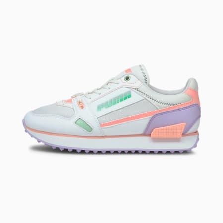 Mile Rider Pastel Mix sneakers dames, Puma White-Elektro Peach-Lig, small