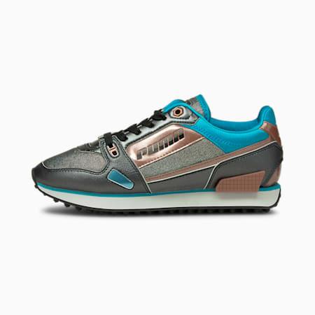 Zapatos deportivos Mile Rider Galacticpara mujer, Puma Black-Scuba Blue-Rose G, pequeño