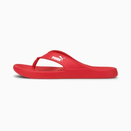 Aqua Unisex Flip Flops, Poppy Red-Puma White, small-IND