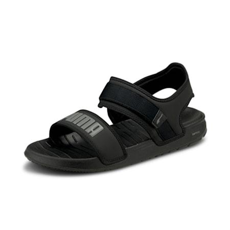 Softride Unisex Sandals, Puma Black-CASTLEROCK, small-IND