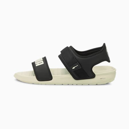 Softride Unisex Sandals, Puma Black-Marshmallow, small-IND