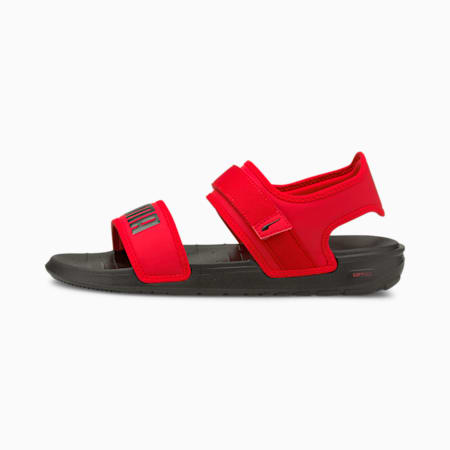 Softride Unisex Sandals, High Risk Red-Puma Black, small-IND