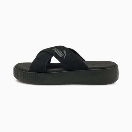 Platform Suede Women's Sandals, Puma Black, small
