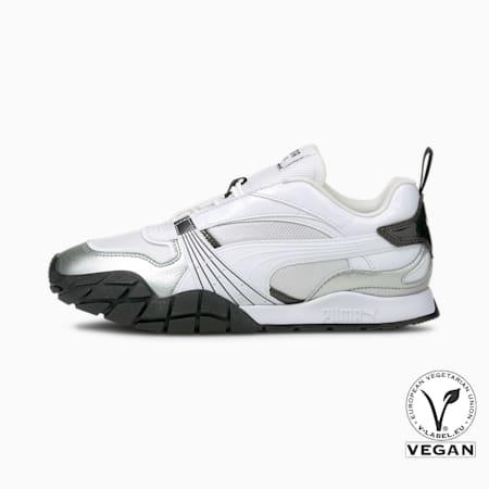 Zapatos deportivos Kyron Galactic para mujer, Puma White-Puma Silver, pequeño