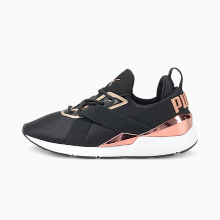 Zapatillas para mujer Muse X3 Metallic, Puma Black-Puma White, small
