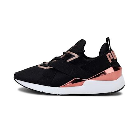 Muse X3 Metallic Women's Shoes, Puma Black-Puma White, small-IND