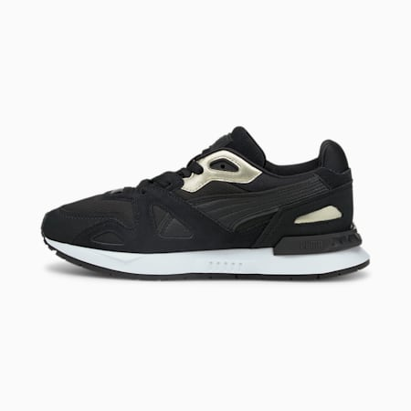 Mirage Mox Metallic Damen Sneaker, Puma Black-Puma Team Gold, small