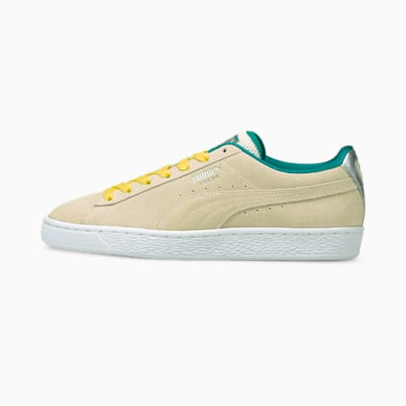 Suede Classic OQ sneakers dames, Eggnog-Puma White, small
