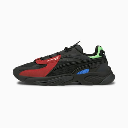 RS-Connect Lazer Shoes, Puma Black-High Risk Red, small-IND