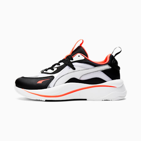 Zapatos deportivos RS-Curve Glow para mujer, Puma Wht-Puma Blk-Ign Pink, pequeño