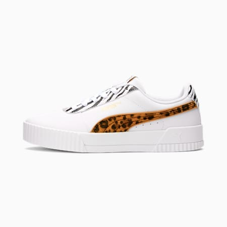 Carina Animal Mix Women's Sneakers, PWhite-PTeam Gold-ACinnamon, small