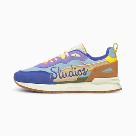 PUMA x KIDSUPER Mirage Mox Shoes, Forever Blue-Shifting Sand, small-IND