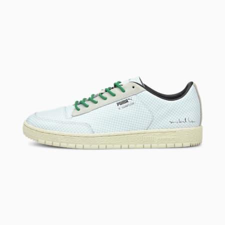 PUMA x MICHAEL LAU Ralph Sampson 70 Lo Sneaker, Puma White-Amazon Green, small