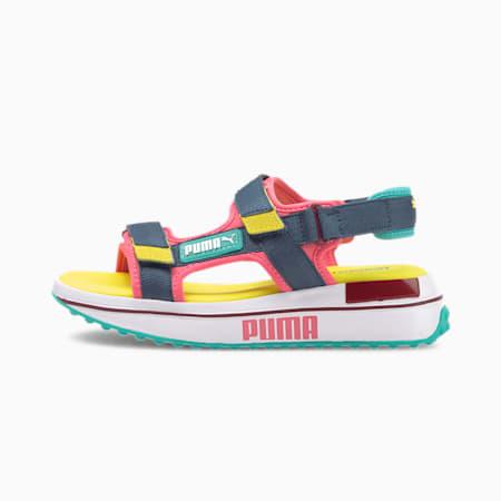 Rider Bubblegum Kids' Sandals JR, Bubblegum-Dark Denim-P.White, small
