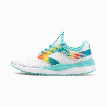 Pacer Next Excel Tie Dye Training Shoes JR, PWhite-Gr.Violet-Gu.Stream, small