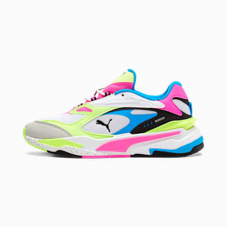 RS-Fast Women's Sneakers, Puma White- Pink-Yellow, small